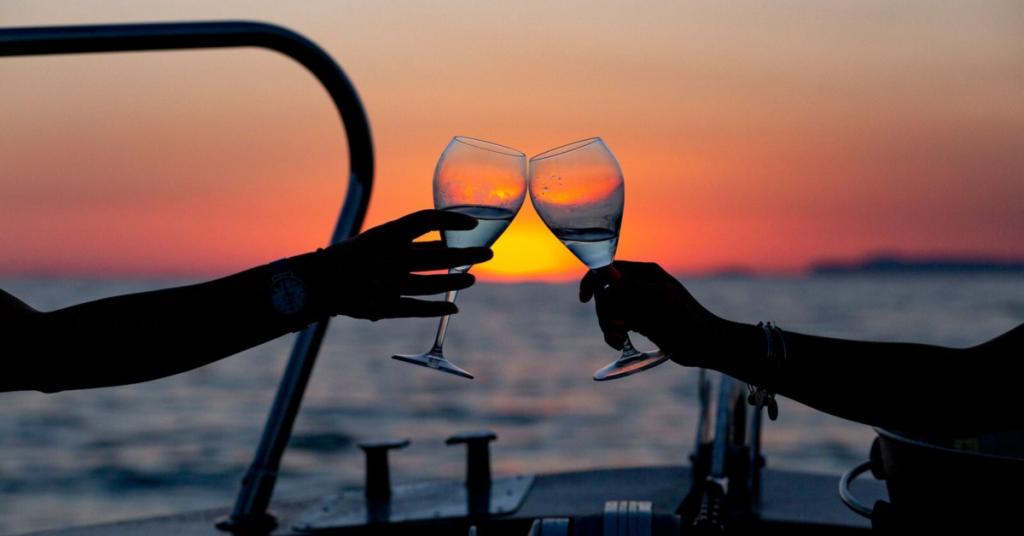 escursione in barca al tramonto